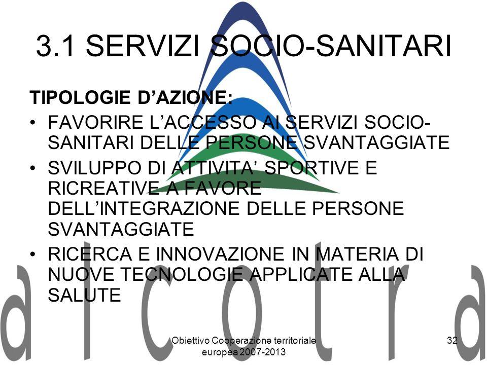 3.1 SERVIZI SOCIO-SANITARI