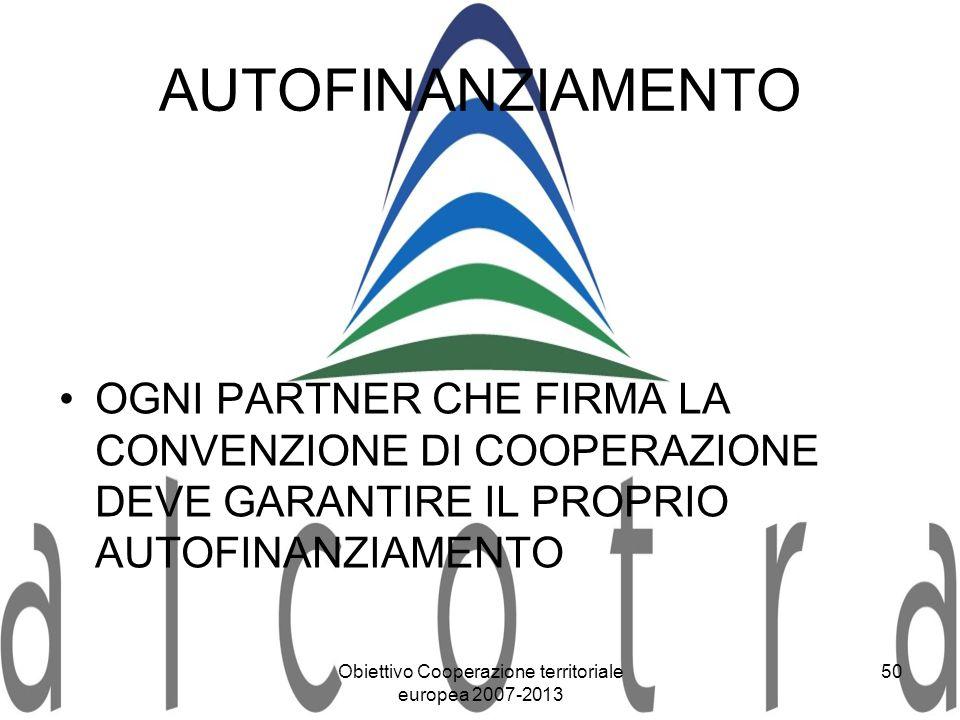 Obiettivo Cooperazione territoriale europea 2007-2013