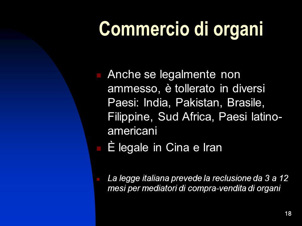 Commercio di organi