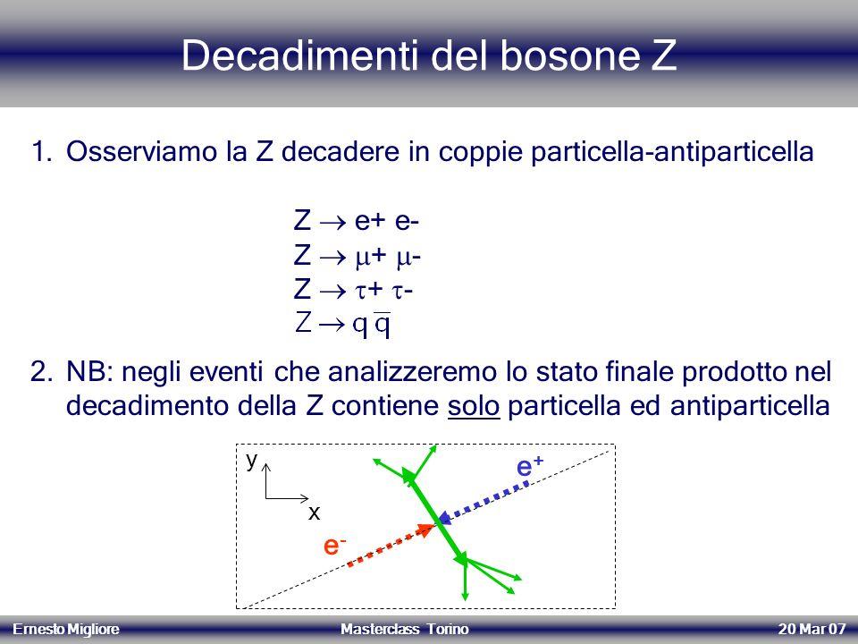 Decadimenti del bosone Z