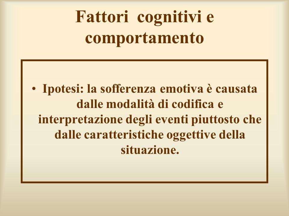 Fattori cognitivi e comportamento