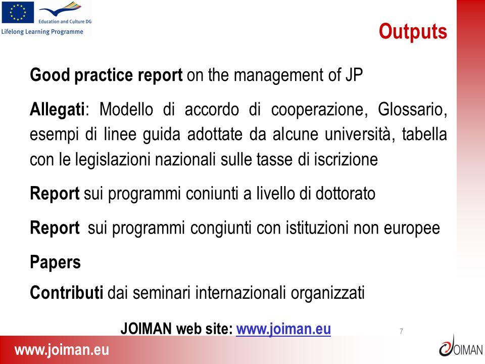JOIMAN web site: www.joiman.eu