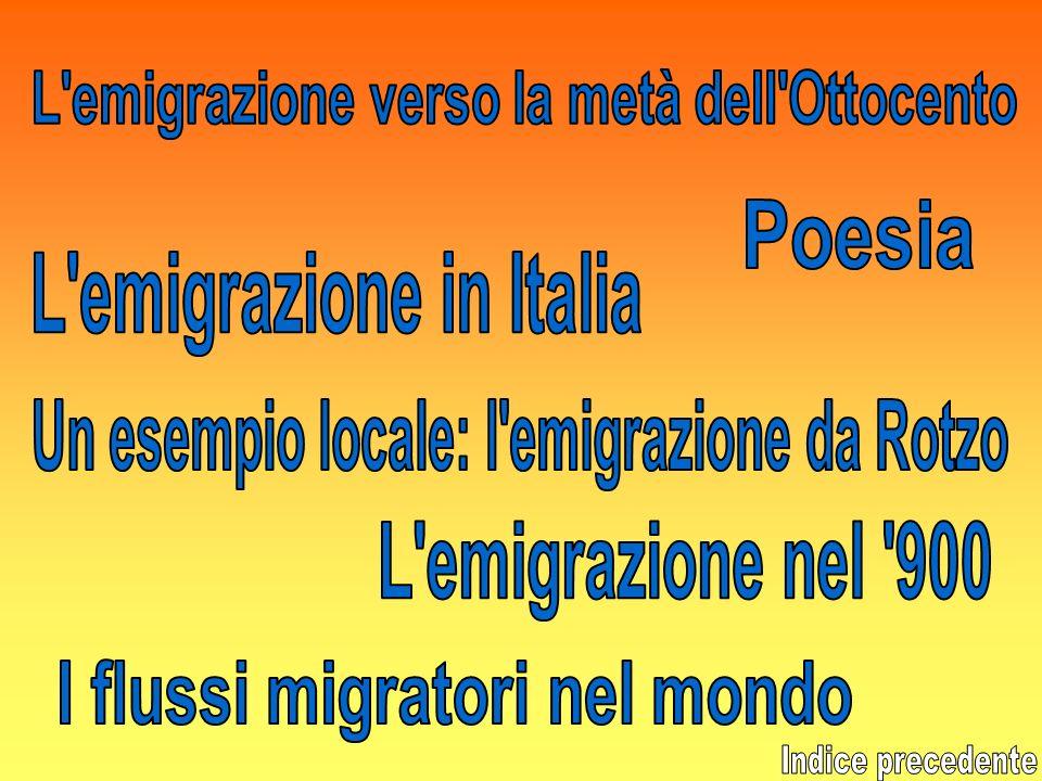 L emigrazione verso la metà dell Ottocento