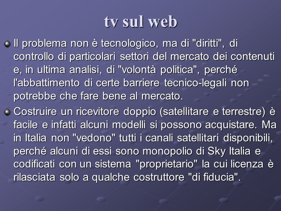 tv sul web