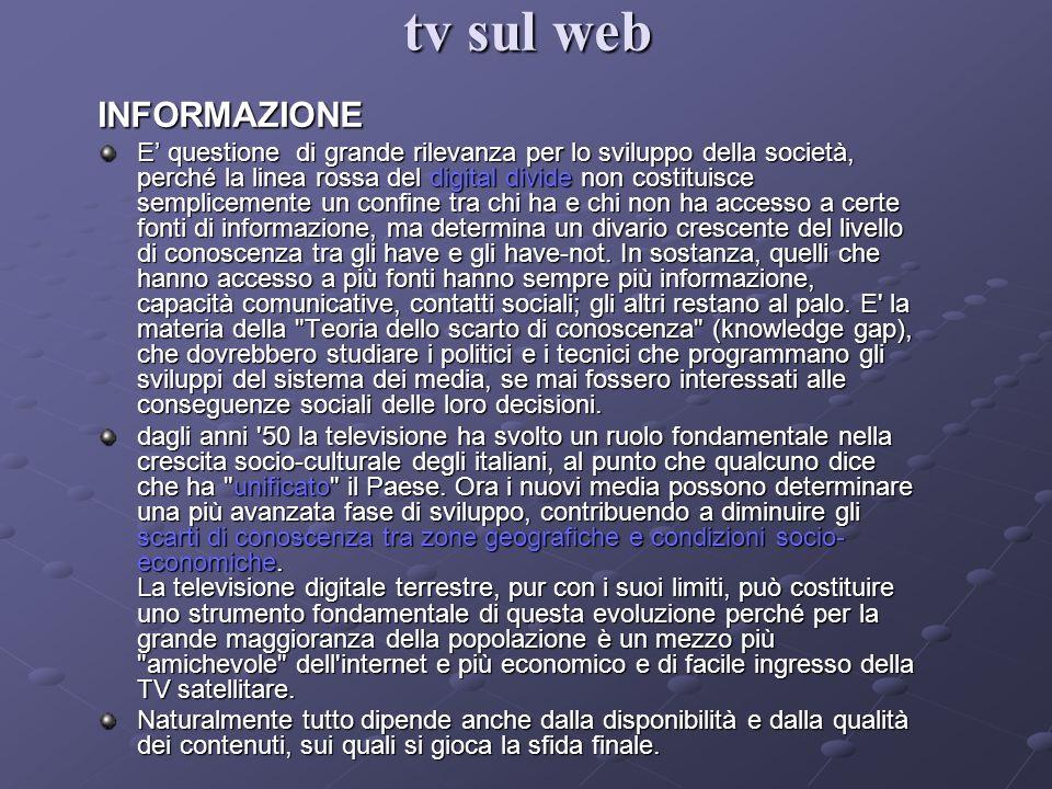tv sul web INFORMAZIONE