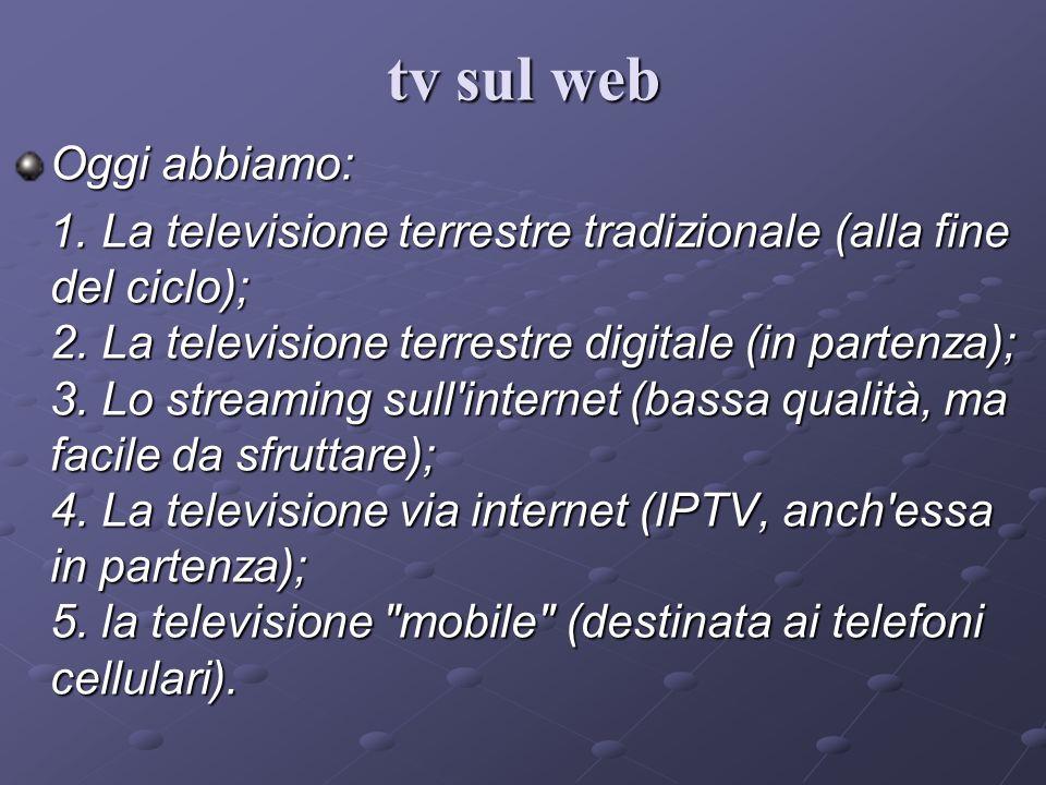 tv sul web Oggi abbiamo: