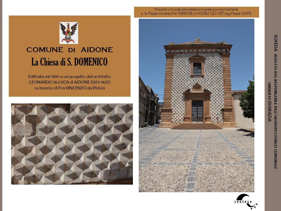 La Chiesa di S. DOMENICO COMUNE di AIDONE
