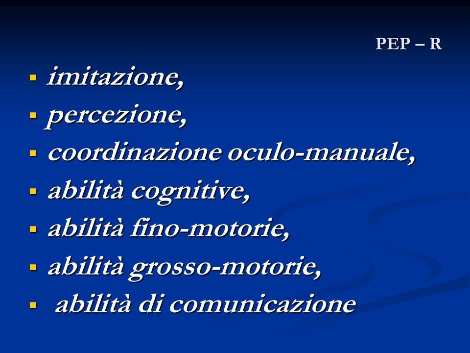 coordinazione oculo-manuale, abilità cognitive, abilità fino-motorie,