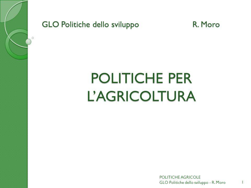 GLO Politiche dello sviluppo R. Moro