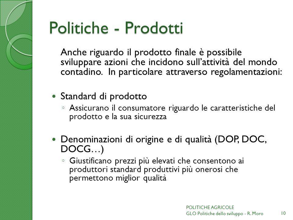 Politiche - Prodotti