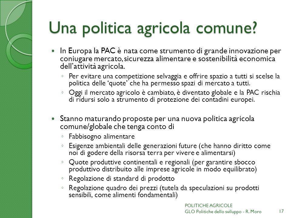 Una politica agricola comune