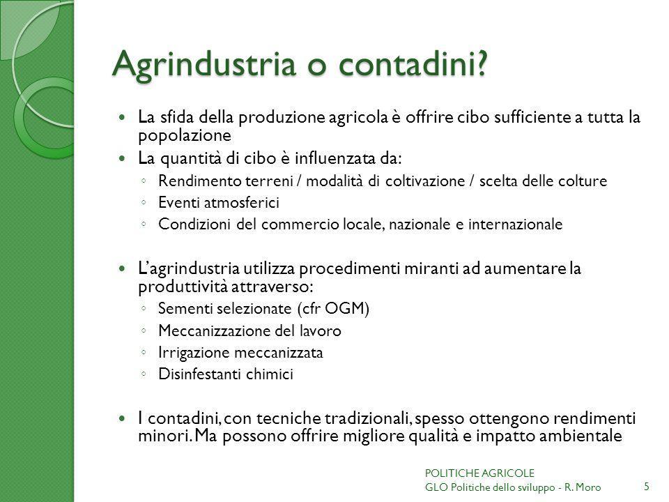 Agrindustria o contadini
