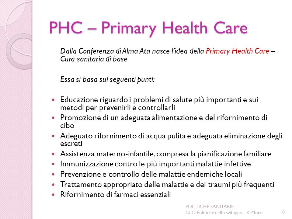 PHC – Primary Health Care
