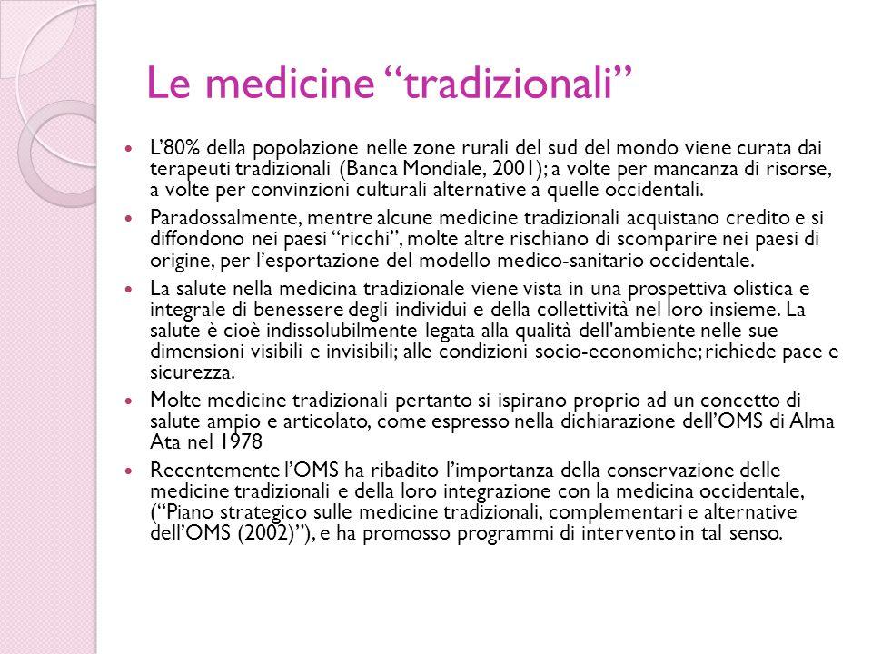 Le medicine tradizionali