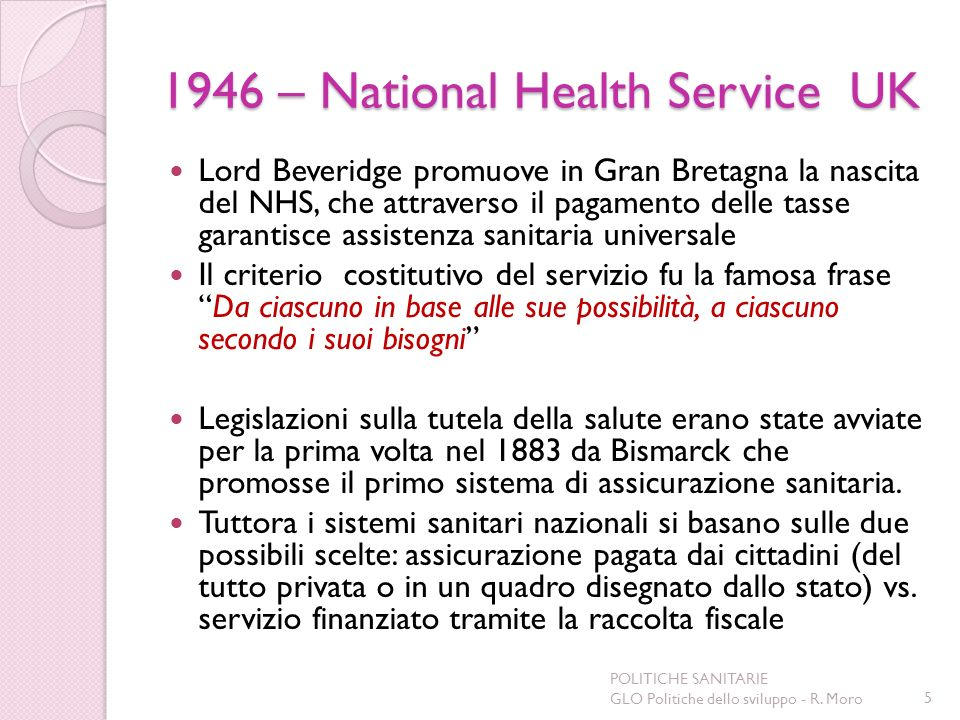1946 – National Health Service UK