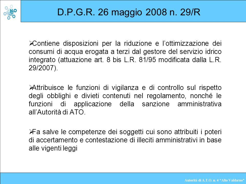 D.P.G.R. 26 maggio 2008 n. 29/R