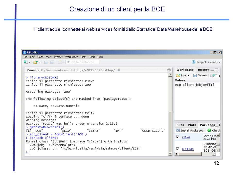 Creazione di un client per la BCE