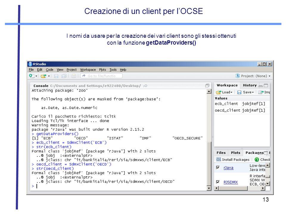 Creazione di un client per l'OCSE