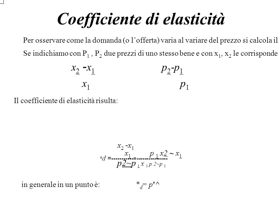Coefficiente di elasticità