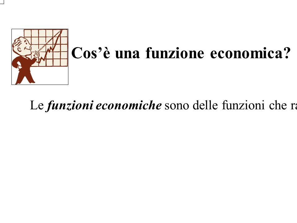 Cos'è una funzione economica