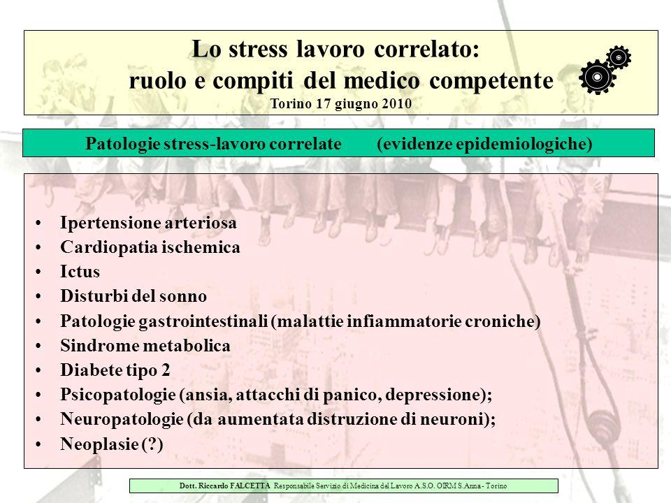 Lo stress lavoro correlato: ruolo e compiti del medico competente