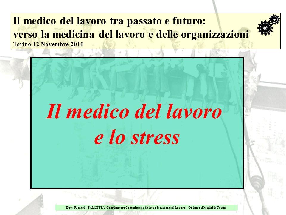 Il medico del lavoro e lo stress