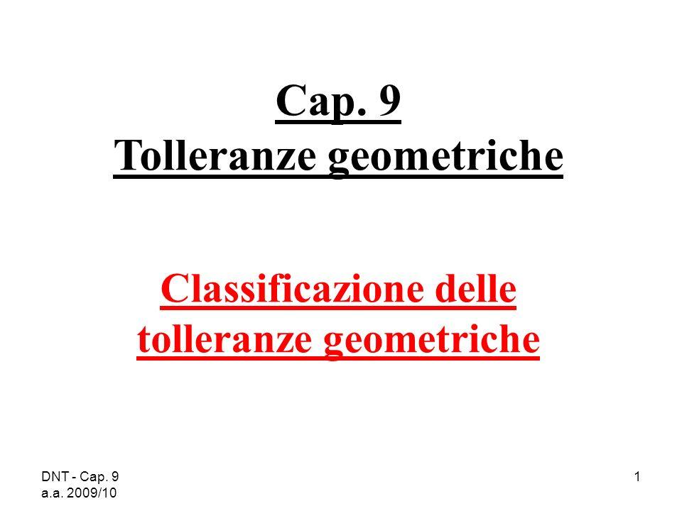 Cap. 9 Tolleranze geometriche