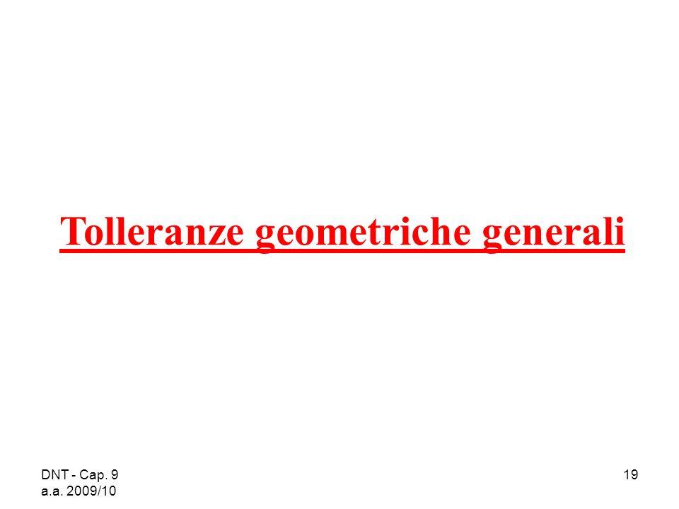 Tolleranze geometriche generali