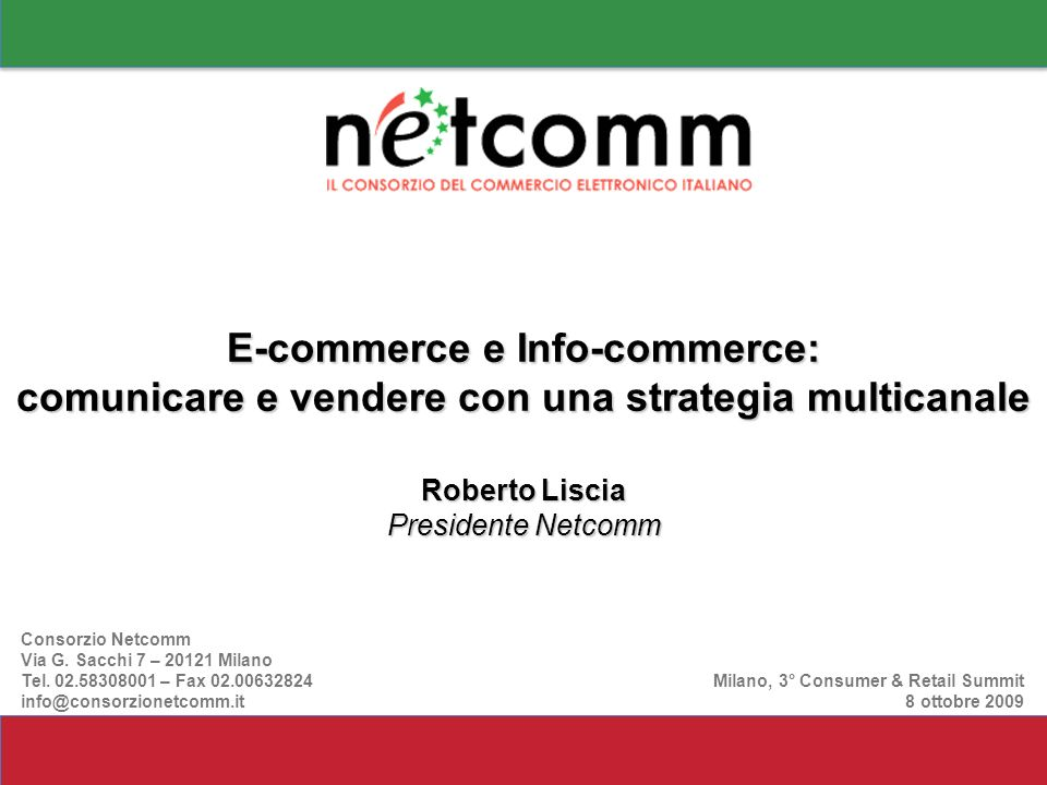 E-commerce e Info-commerce: