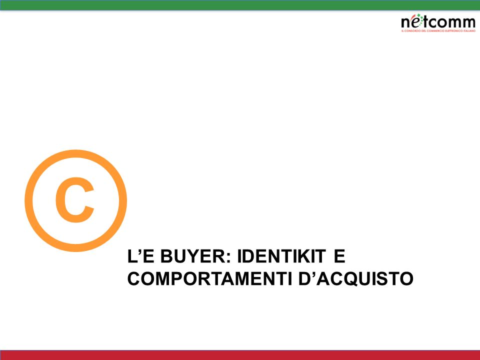 C L'E BUYER: IDENTIKIT E COMPORTAMENTI D'ACQUISTO
