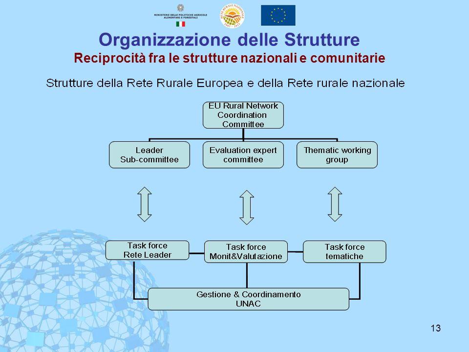 Organizzazione delle Strutture Reciprocità fra le strutture nazionali e comunitarie