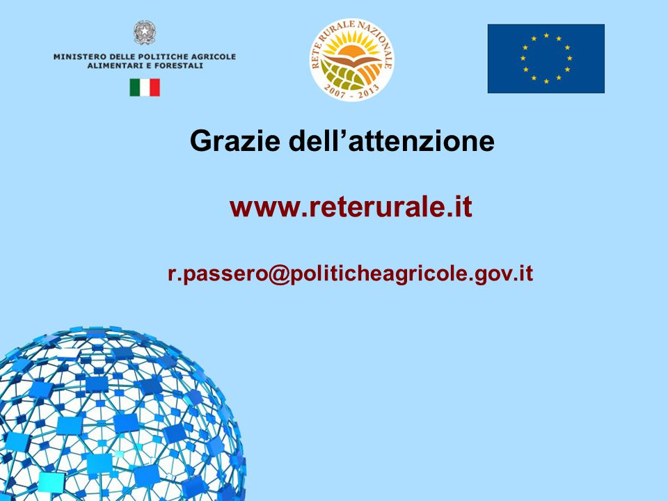 www.reterurale.it r.passero@politicheagricole.gov.it