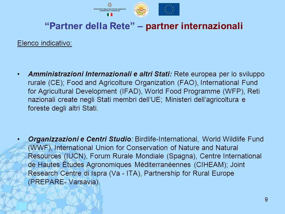 Partner della Rete – partner internazionali