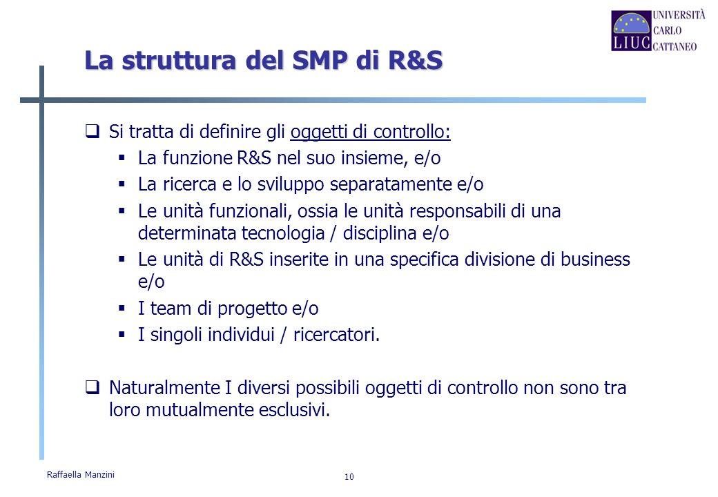 La struttura del SMP di R&S