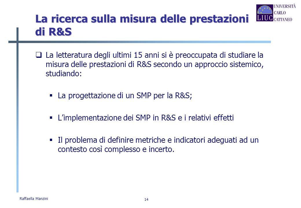 La ricerca sulla misura delle prestazioni di R&S