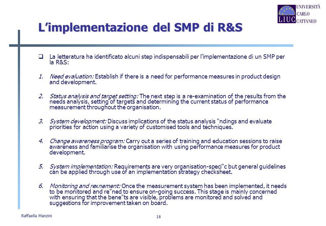 L'implementazione del SMP di R&S
