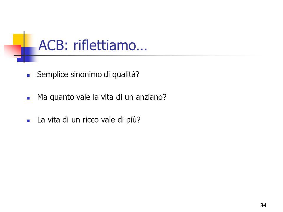 ACB: riflettiamo… Semplice sinonimo di qualità