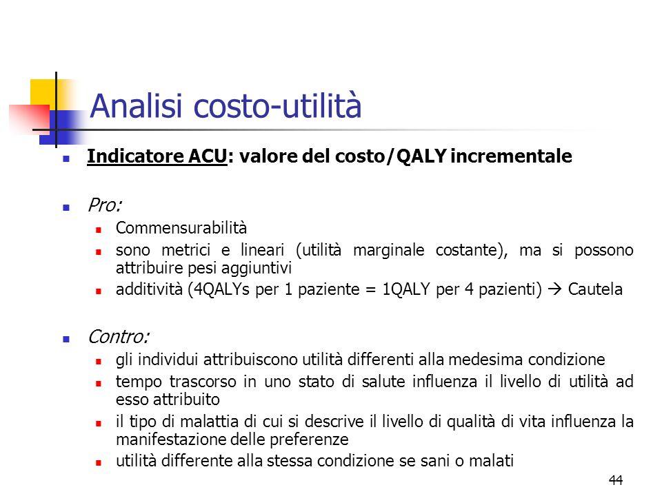 Analisi costo-utilità