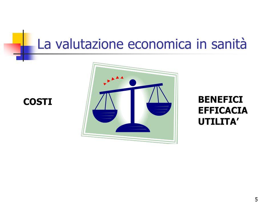 La valutazione economica in sanità