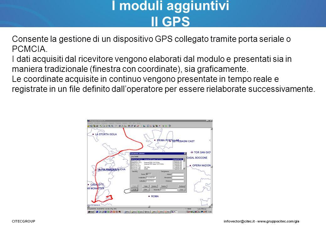 I moduli aggiuntivi Il GPS