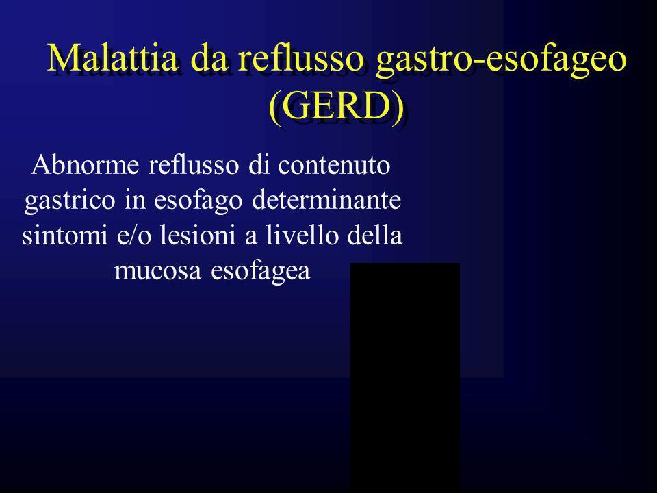 Malattia da reflusso gastro-esofageo (GERD)