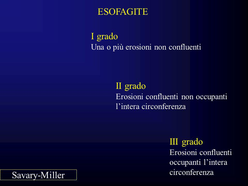 ESOFAGITE I grado II grado III grado Savary-Miller