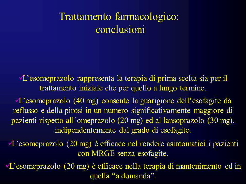 Trattamento farmacologico: