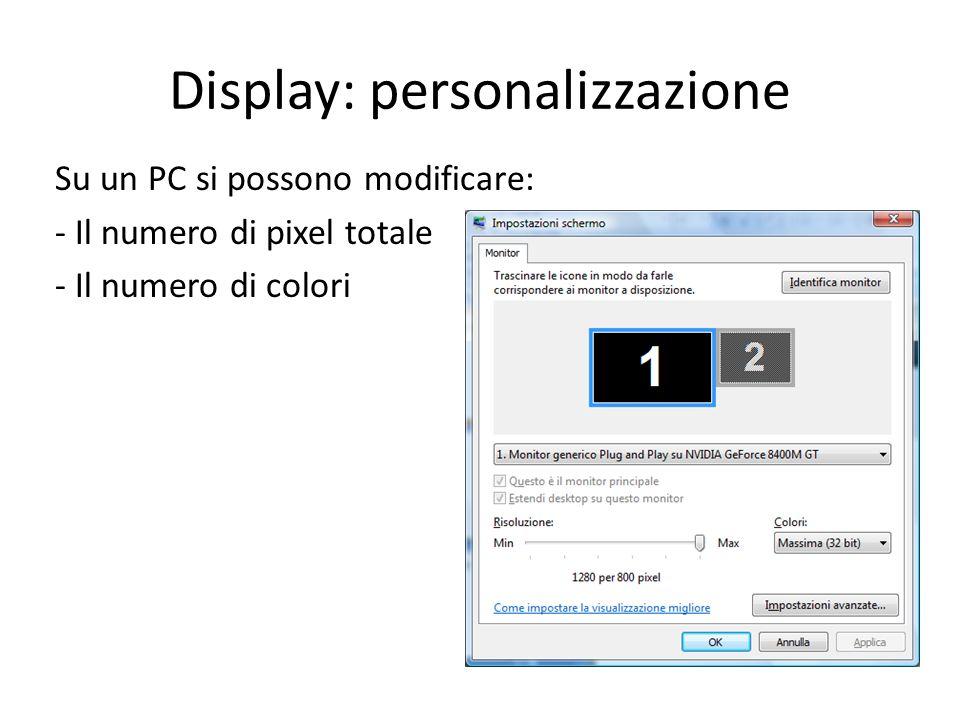 Display: personalizzazione