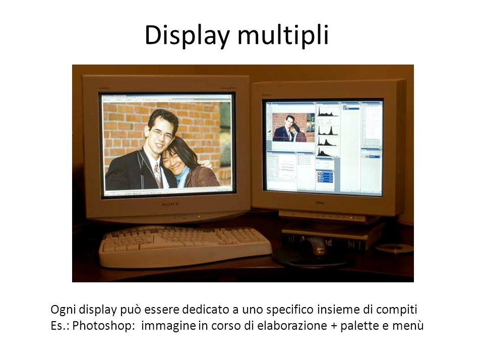 Display multipli Ogni display può essere dedicato a uno specifico insieme di compiti.