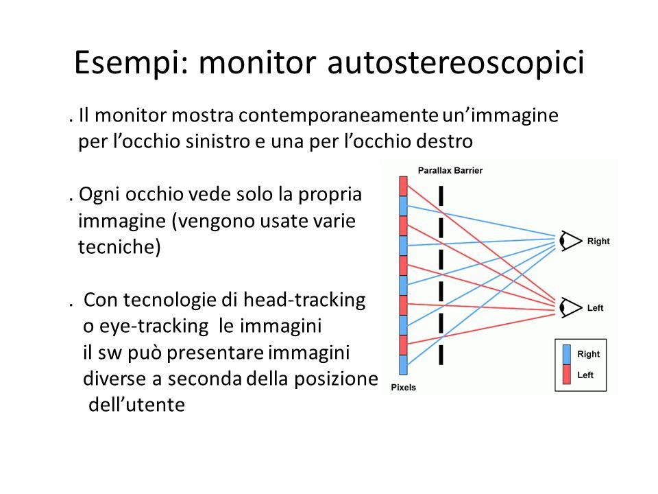 Esempi: monitor autostereoscopici