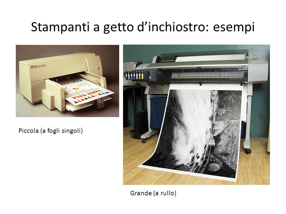 Stampanti a getto d'inchiostro: esempi