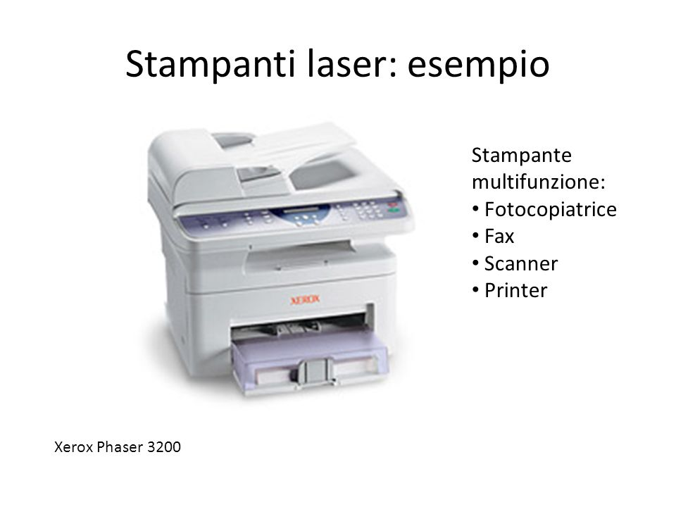 Stampanti laser: esempio