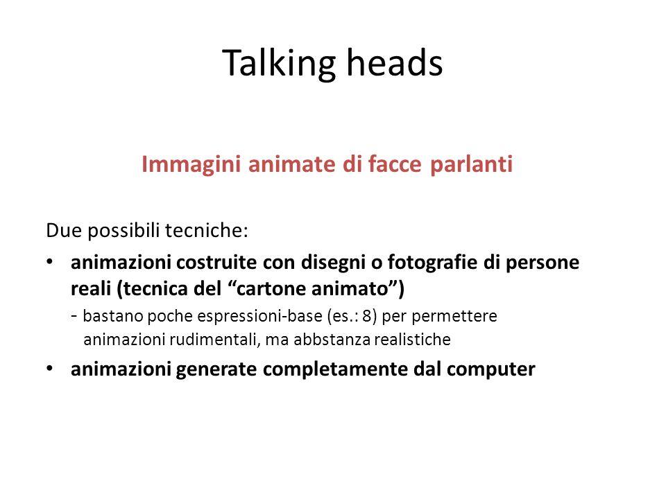 Immagini animate di facce parlanti