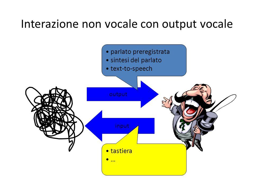 Interazione non vocale con output vocale
